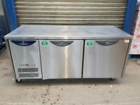 WILLIAMS under counter three 2 door fridge work top fridge prep fridge 1820 mm for restaurant