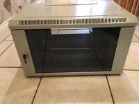 Wall mount data cabinet lockable