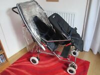 Silvercross Tandem pushchair. can be converted to a single pushchair.