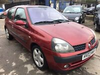 Renault Clio 1.4 16v Dynamique 3dr£585 p/x to clear FREE WARRANTY. NEW MOT