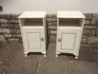 Bedside cabinets x 2 , shabby chic project