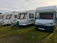 Wanted touring caravans moterhomes campers