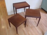 Stylish Mid-Century Set of Teak Coffee / Side Tables from the 1960s - Excellent original condition