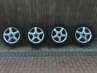 "Mercedes ML R Vito 4 X Genuine alloys wheels 19""with 255 50 19 tyres A2514011202"