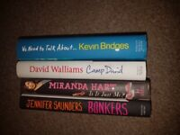 4 hardback comedian autobiographies for sale
