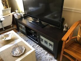 TV Unit Solid Brown Wood