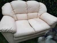 FREE 2 Cream leather two seater Settees