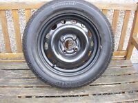 "Vauxhall Corsa 14"" spare steel wheel with excellent Continental tyre"
