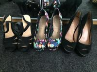 Size 5 high heels *3 pairs*