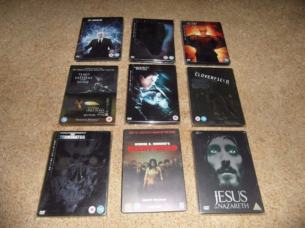 DVD COLLECTION OF 24 - FILMS in STEEL- BOOKS CASES,