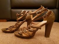 Brown Gladiator High Heel Sandal