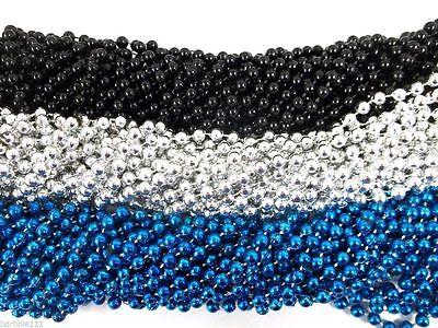 Panther's Superbowl Mardi Gras Beads Football Tailgate Party Favors 12 24 36 48](Superbowl Party Favors)