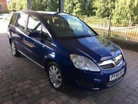 vauxhall zafira 1.8 petrol 2009 58 plate 93k 7 seater service history mot