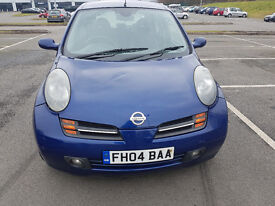04 NISSAN MICRA S 5 DOOR HATCHBACK,1.2CC, PETROL, MOT APRIL 2017