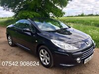 2006 PEUGEOT 307 CC CONVERTIBLE S BLACK - PERFECT FOR SUMMER