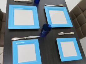 Villeroy & Bosh set of new unused 4 plates