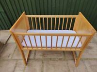 Wooden Rocking/Static Crib baby Bed