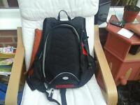 motorcycle backpack in as new condition, never used in black