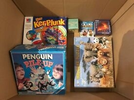 Box of games and puzzles
