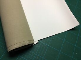Artist's canvas-Superfine primed polyester off-cuts in decent size rolled pieces