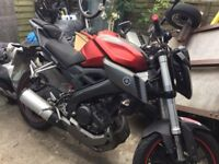 Yamaha mt125,Oct 15,recent rear tyre,disc and pads,good condition,genuine reason for sale.