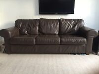IKEA Leather 3-Seater Couch - Good condition!