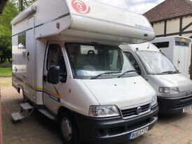 EuraMobil 500S Compact 4 Berth Motorhome Fiat Ducato 2003 2.3TD Only 58700 miles - Part Ex Welcome
