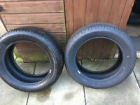 "2x 17"" almost new good year tyres"