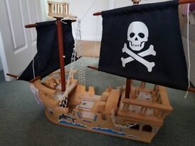 Wooden Toy ship