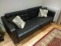 Ikea Landskrona 3 Seat Leather Couch
