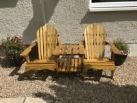 Garden chair -Adirondack Companion Seat