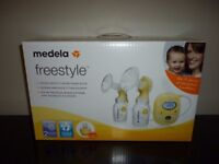 MEDELA FREESTYLE DOUBLE BREAST PUMP (NEW UNOPENED)