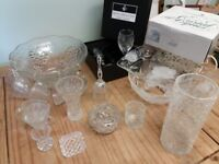 Vintage crystal and glass collection