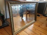 Vintage Mirror with Gold Gilded Frame