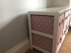 Pink Polka Dot Drawer Set