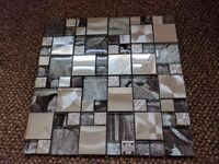 Metal and Glass Mosaic Tiles (RRP: £16.99 a sheet)