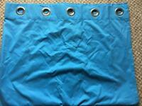 Blue eyelet curtains VGC