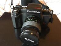 Pentax SFX N with Vivitar Macro