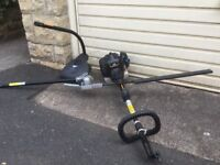 Hedge cutter with grass trimmer attachment