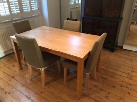 Kitchen table and chairs (£150) available in Clapham