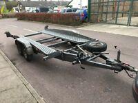 Car Trailer Transporter Hydraulic TILT BED brenderup 2500kg