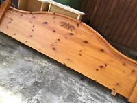 Wooden bed board