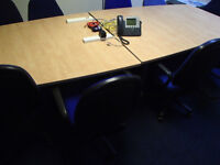 large office meeting table board room with 10 chairs