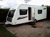 Eldis Avante 574 2014 single axle Touring caravan , with all extras included