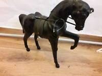 Genuine leather horse
