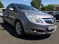 2007 VAUXHALL CORSA 1.2 DESIGN A/C * ONLY 68000 MILES + TIMING CHAIN DONE + 12 MONTHS MOT