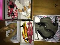 11 pairs of Ladies shoes size 5