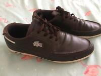 Mens lacoste trainers/shoe sz 10