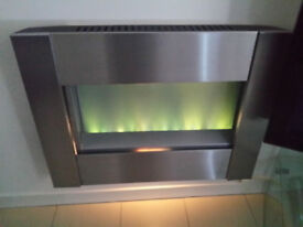 Electric Fire brushed steel