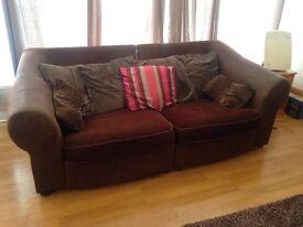 Large 1/2 Suede Sofa FREE